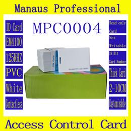 token de cartão de identificação Desconto Atacado-50Pcs de alta qualidade PVC branco RFID 125khz chip EM cartões de identificação de proximidade cartão de controle de acesso inteligente ID Token atacado C4-2