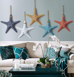 Wholesale buttons restaurant - 5colour Simple modern starfish creative wall vase restaurant wall decoration hooks ornament decorations Crafts wholesale 5PC SET B704
