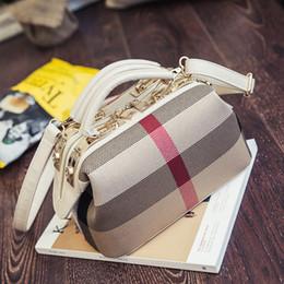 Wholesale red stripe pillow - Europe Women Totes Leather Handbags Tote Bag 2017 Fashion Designer Stripes Women Shoulder Bags Black White Messenger Bag sac a main