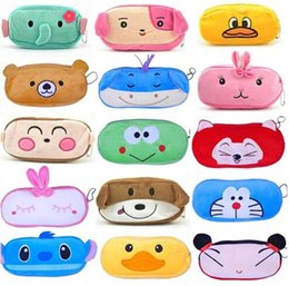 Wholesale Kawaii Pencil Cases - 2016 Cute Cartoon Kawaii Pencil Case Plush Large Pencil Bag for Kids School Supplies Material Korean Stationery Free shipping