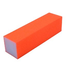 Wholesale Color File - Wholesale- 1Pc Buffer Nail Files Fluorescent Color Sanding Block Manicure Nail Art Tips Women Nail Files Color Random 0039