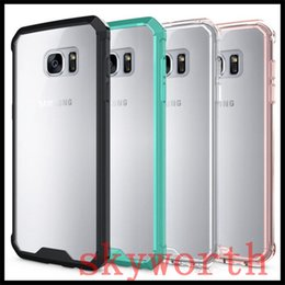Wholesale Galaxy Bumper Cases - Transparent Hybrid TPU Bumper + Clear Shockproof Case For iPhone X 8 7 6S Plus Samsung Galaxy Note 8 S6 S7 edge S8 Plus