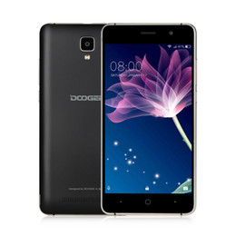 Wholesale Gsm Cellphones Gps - DOOGEE X10 mobile phones 5.0Inch IPS 8GB Android6.0 smart phone Dual SIM MTK6570 1.3GHz 5.0MP 3360mAH WCDMA GSM cellphone