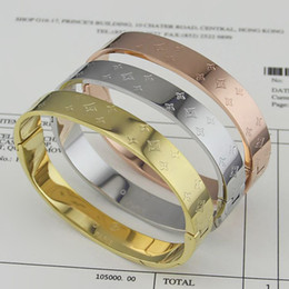 Wholesale channel selling - Direct selling wholesale fashion jewelry square Bracelet rose gold bracelets and women printing Bracelet
