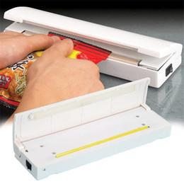 Wholesale Plastic Sealing Machines - Vacuum Food Sealer Mini Portable Heat Sealing Machine Impulse bag Sealer Seal Machine Poly Tubing Plastic Bag Kit Tool 1pc