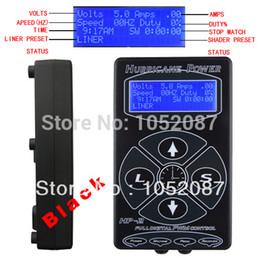 Wholesale Dual Lcd Tattoo - Wholesale-2014 Hot Selling Black HP2 Hurricane Tattoo Power Digital Dual LCD Display Tattoo Power Supply Free Shipping