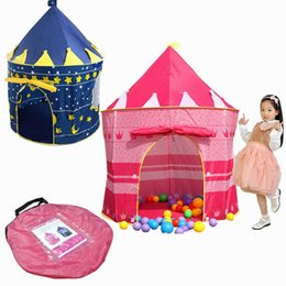 Wholesale Playing Girl Tent - Children Play Tent Girls Castle Princess Castle for Indoor Outdoor Pop-Up Castle Foldable with Carry Case