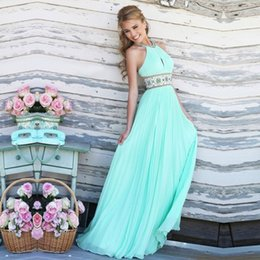 Wholesale Wholesale For Bridesmaid Dresses - Wholesale- 2017 Women Vestidos Solid Party Dresses Sexy Dresses for Women Summer Beach Dress Ball Prom Gown Formal Bridesmaid Long Beach
