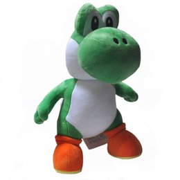 "Wholesale stuffed yoshi - Hot New 13"" 33CM Yoshi Plush Doll Soft Super Mario Bros Dolls Anime Collectible Kid's Best Gifts Stuffed Toys"