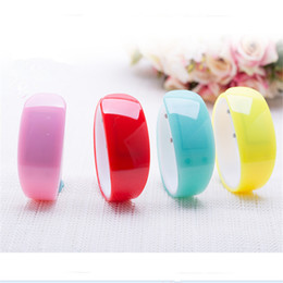 Wholesale Wrist Watch Dolphins - Jelly Wrist Watch Fashion Digital LED Anime Dolphin Watch Touch Screen Watches Rubber Belt Silicone Bracelets Wrist Watches