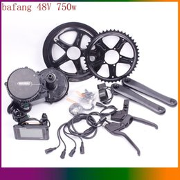 Wholesale Electric Bike Conversion Kits 48v - Free Shipping Bafang BBS02 48V 750W Ebike Electric Bicycle Motor 8fun Mid Drive Electric Bike Conversion Kit. 24 Hours Delivery