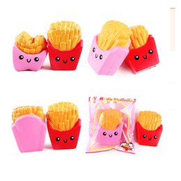 Wholesale 2017 New High Quality kawaii cute Jumbo CM french fries Soft Scented Bread Cake squishy Slow Rising Elasticity Stretch Kid toy