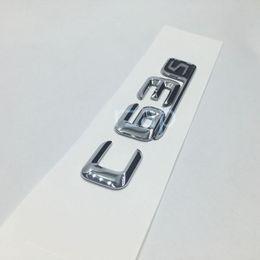 Wholesale Amg Sticker 3d - Chrome ABS Badge Emblem C63s C63 S Logo Rear Trunk Sticker For Mercedes Benz AMG 4MATIC