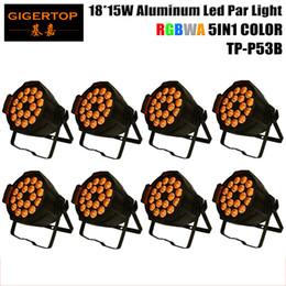 Wholesale Oem Auto - Wholesales 8XLOT LED Stage Light, Aluminum Par 15W 18pcs RGBWA 5IN1 Color Brightness by DMX 512 Control Black Painting OEM LOGO TP-P53B