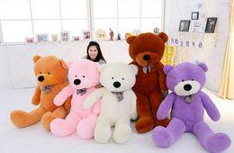 Wholesale Pink Stuffed Teddy Bears - Teddy Bear stuffed skin white black bown pink purple yellow 80cm 100cm 120cm 140cm 160cm 180cm 200cm 300cm high quality gift