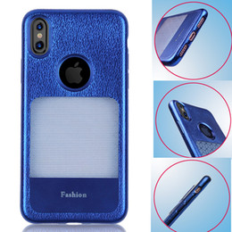 Wholesale Iphone Imitation - For iPhone 8 3D Stylish Imitation Leather Window TPU Case Shock Absorption Back Cover For iPhone 7 Plus Samsung S8 Plus Opp Bag