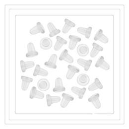 Wholesale Wholesale Rubber Earrings Backs - Fashion Safety Eearring Backs Fish Hook Earrings Plugs Clear Rubber Petal Style Earring Backs Earrings Back For Women Jewelry Free Shipping