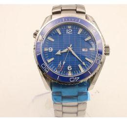 Wholesale Titanium Dress Watches - 2017 New watch men hand wind watch Skyfall titanium Planet Ocean James bond automatic movement watches men dress wristwatches