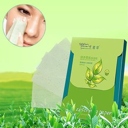 Wholesale Wholesale Face Blotting Papers - 1*80 Sheets Oil Absorbing Blotting Face Clean Paper Green Tea Scent Makeup Tool Prevent Blackhead Facial Tissue Face oil absorbing Paper