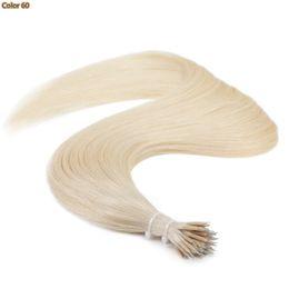 """Beste qualität jungfräuliches menschliches haar online-Beste Qualität-Nano Ring Haarverlängerung 100% Jungfrau-Menschen brasilianisches Haar 16 """"- 26"""" 1g / s 100g / set Ring in Haar dunkle Farbe Helle Farbe"""