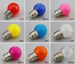 Boule en plastique globe en Ligne-Ces petites ampoules colorées G45E27 en plastique en aluminium lampe usine directe LED boule de couleur