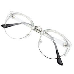 Wholesale Glasses Nerd Style - Wholesale- Retro Style Women Men Round Nerd Glasses Clear Lens Eyewear Metal Frame Glasses 6 Colors