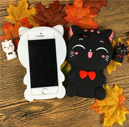 Wholesale Cute Cartoon Casing - Cartoon Element Cute Cat phone Cases For iphone7 7plus soft silica gel case back cover For iphone6 6S 6S plus free shipping