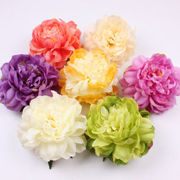 Wholesale Large Artificial Peony - Large Artificial French Peony Heads Silk Flowers Home Decor Diy Accessories For Background Flower Wall Making 10Pcs  Lot