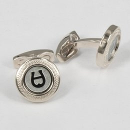 Wholesale Sleeves Copper - Metal aigner Cufflinks 'A' copper Sleeve Nail Men Cuff link French's Cuff Color Luxury Cufflink high quality 1 pair