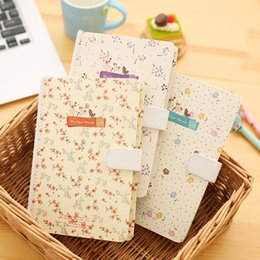 Wholesale Korea Diary Cute - Wholesale- 1pc Korea Exquisite Fine Magnet Lock Notebook Diary Little Fresh Notepad Cute Notebook