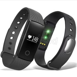 Wholesale Cheap Metal Buttons - Cheap ID 107 ID107 For Iphone X Smart Band Smart Watch Bluetooth Smart WristBands Bracelet With Metal Button Heart Rate Monitor + Package