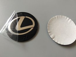 Wholesale Center Caps Stickers - Aluminum 56.5mm 3D Car Badge Wheel Center Hub Cap Sticker Durable Logo Brand Emblem Car Accessory Anti Fade Wheel Decoration Fit For Lexus