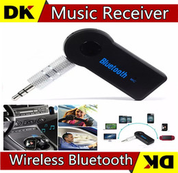 Wholesale Bt Car Audio - Real Stereo New 3.5mm Streaming Bluetooth Audio Music Receiver Car Kit Stereo BT 3.0 Portable Adapter Auto AUX A2DP for Handsfree Phone MP3
