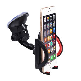 Wholesale Galaxy Car Cradle - Wholesale- car Red Black Universal Mobile Phone Car Stand Windshield Dashboard Mount Smartphone Holder Cradle for iPhone Samsung Galaxy No