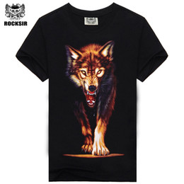 Wholesale Tiger Print Wholesale Shirt - Wholesale- Hot Sale Brand New Fashion Summer Men T-shirt 3d Print Nightmare Tiger Short-Sleeved Casual Tops Tees Men's Plus Size Shirts