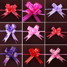 Hermoso tirón Arco Boda Flor de la boda Cinta Arco Nudo Flor Banquete de boda Puerta Decoraciones de coches Decoración de Navidad Caja de regalo Flor desde fabricantes