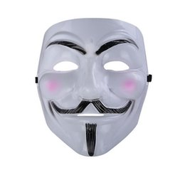 Wholesale Guys Wedding Dresses - The V for Vendetta Party Cosplay masque Mask Anonymous Guy Fawkes Fancy Dress Adult Costume Accessory macka mascaras halloween S2017351