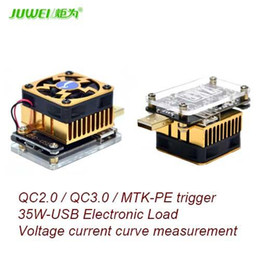 Wholesale Mtk Battery - Freeshiping Computer software online USB tester DC discharge Load resistor QC2.0 3.0 MTK-PE Trigger Voltage Current Monitor Battery Capacity