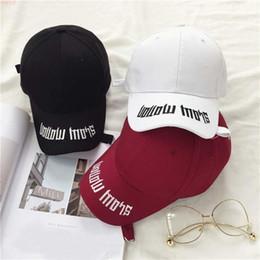 Wholesale Gold Ring Pops - Wholesale- Hot selling BTS SUGA XHM199 Fashion K POP embroidery Iron Ring Hats adjustable Baseball cap
