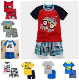 b56d4c9ef0b05 camisa do motor Desconto Pijamas do bebê de Verão Meninos Pijamas de Algodão  Pijama de Manga