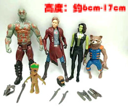 rocket baby toy Coupons - Guardians of the Galaxy 2 Action Figures dolls toy New Cartoon Kids Avengers Star-Lord Rocket Baby Groot PVC toys 5 style set B001