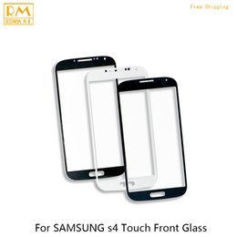 Wholesale Touch Phone S4 Mini - 5pcs lot Front Glass For Samsung Galaxy S4 I9500 I9505, S4 MINI I9195 I9190 Outer Glass LCD Touch Screen Panel Digitizer Sensor Phone Parts
