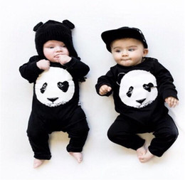 Wholesale Kids Coveralls Wholesale - Wholesale 2017 Kids Fashion coveralls Newborn Baby Girl Clothing panda romper infant clothes