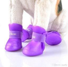 Wholesale News Dogs - 2017 new style Lefdy News DOG BOOTS Waterproof Protective Rubber Pet Rain Shoes Booties of Candy Colors