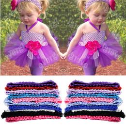 Wholesale Lined Crochet Tutu Tops - Wholesale- 10 Colors U Pick Newborn Toddler Baby Girl Tutus 2015 Hot Fashion Crochet Tutu tank Tops