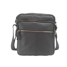 Wholesale Cheap Leather Crossbody Bags - Wholesale-2016 High quality genuine leather male bag brand fashion men Shoulder crossbody bags Casual black small messenger Bag cheap