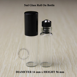 Pequeño rollo de perfume online-24pcs 5ml Roll On Roller Bottles para aceites esenciales pequeños roll-on botella de perfume recargable envases de desodorante envío gratis