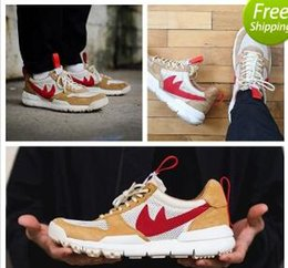 Wholesale Canvas Fabric Yard - High Quality Racers Tom Sachs x Craft Mars Yard 2.0 TS NASA Running Natural Sport Red Sneaker Sport Shoe Zapatillas Vintage Trainer