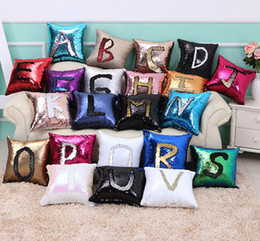 Wholesale Suede For Sofa - Hot Sale Mermaid cushion cover bright double-color multiple choice decorative bolster 40 * 40cm suede cloth soft touch for sofa bed and car