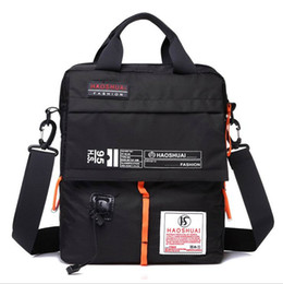 Wholesale Male Handbags Casual - Male Vertical Messenger Shoulder Crossbody Bag Top Handle Handbag Outdoor Waterproof Travel Casual Sports Bag For Men